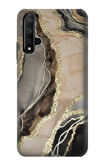 Printed Marble Gold Graphic Printed Huawei Honor 20 Case