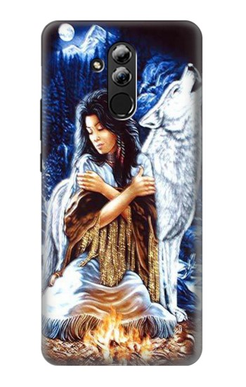 Printed Grim Wolf Indian Girl Huawei Mate 20 lite Case