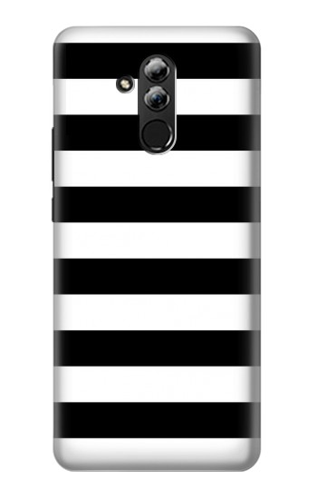 Printed Black and White Striped Huawei Mate 20 lite Case