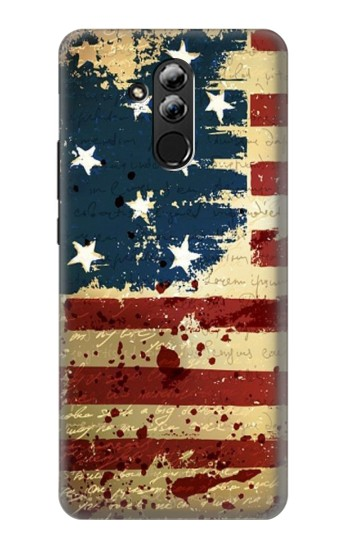 Printed Old American Flag Huawei Mate 20 lite Case