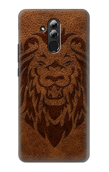 Printed Leo Tattoo Brown Leather Huawei Mate 20 lite Case