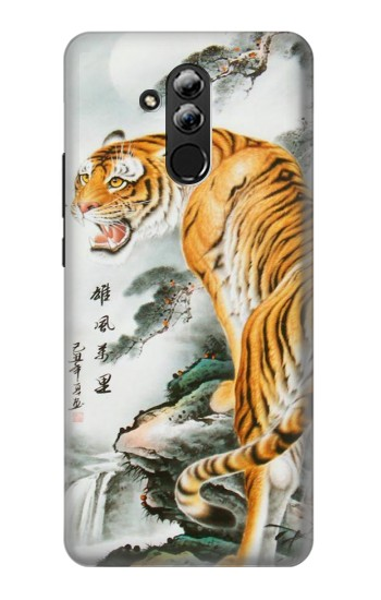 Printed Chinese Tiger Painting Tattoo Huawei Mate 20 lite Case