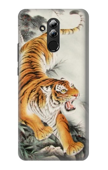 Printed Chinese Tiger Tattoo Painting Huawei Mate 20 lite Case