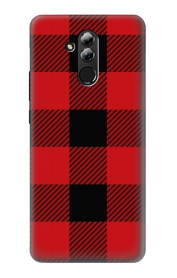 Printed Red Buffalo Check Pattern Huawei Mate 20 lite Case
