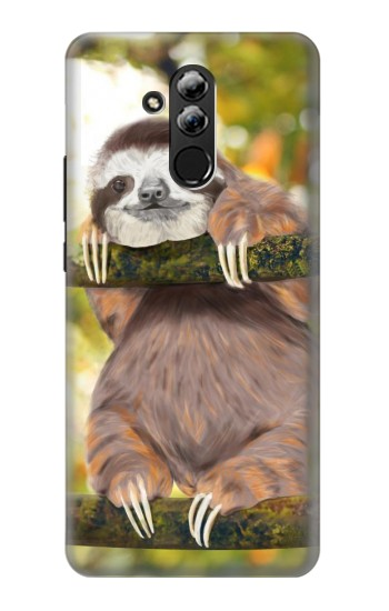 Printed Cute Baby Sloth Paint Huawei Mate 20 lite Case