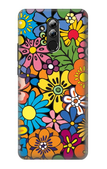 Printed Colorful Flowers Pattern Huawei Mate 20 lite Case