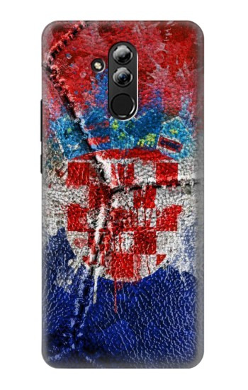 Printed Croatia Flag Vintage Football 2018 Huawei Mate 20 lite Case