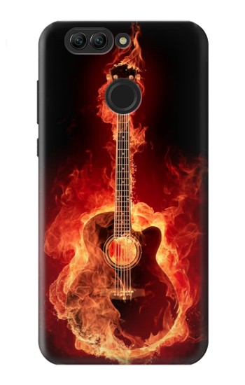 Printed Fire Guitar Burn Huawei nova 2 plus Case