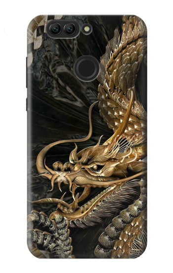 Printed Gold Dragon Huawei nova 2 plus Case