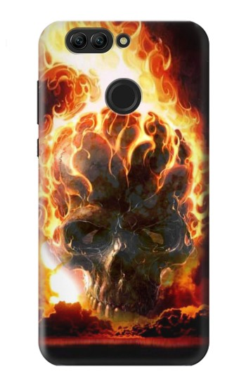 Printed Hell Fire Skull Huawei nova 2 plus Case