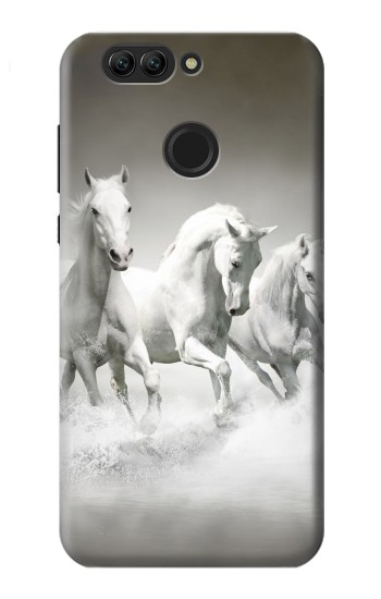 Printed White Horses Huawei nova 2 plus Case