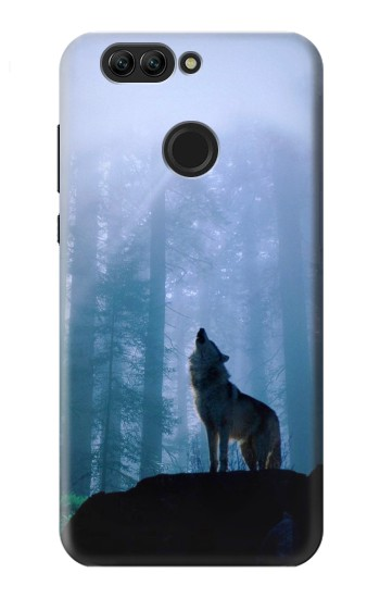 Printed Wolf Howling in Forest Huawei nova 2 plus Case