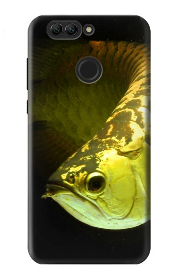 Printed Gold Arowana Fish Huawei nova 2 plus Case