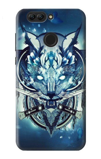 Printed Wolf with knives Rock Huawei nova 2 plus Case
