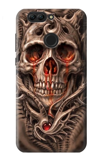 Printed Skull Blood Tattoo Huawei nova 2 plus Case