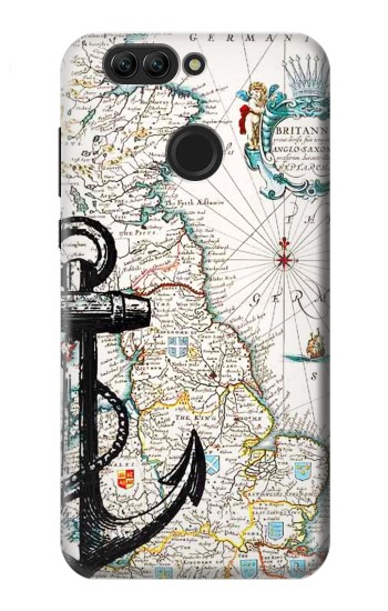 Printed Nautical Chart Huawei nova 2 plus Case