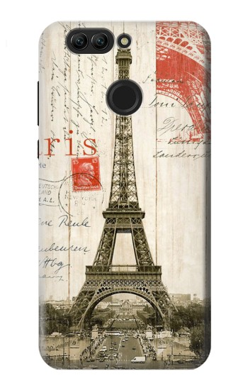 Printed Eiffel Tower Paris Postcard Huawei nova 2 plus Case