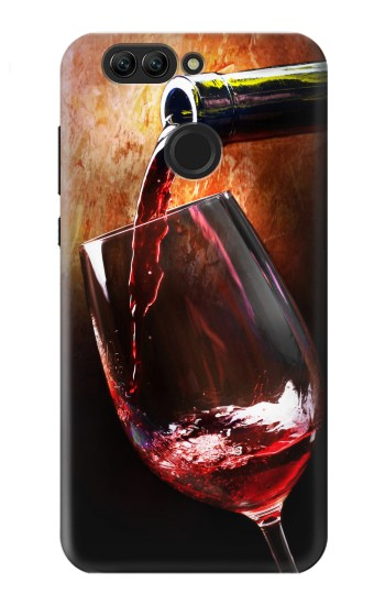 Printed Red Wine Bottle And Glass Huawei nova 2 plus Case