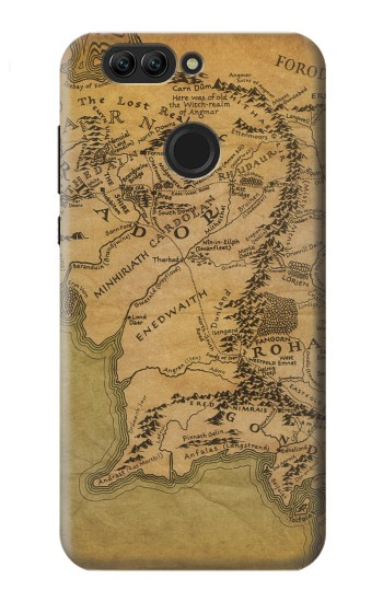 Printed The Lord Of The Rings Middle Earth Map Huawei nova 2 plus Case