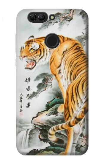 Printed Chinese Tiger Painting Tattoo Huawei nova 2 plus Case