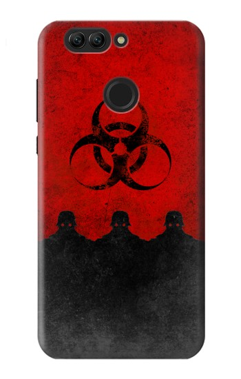 Printed Virus Red Alert Huawei nova 2 plus Case