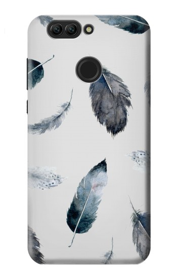 Printed Feather Paint Pattern Huawei nova 2 plus Case