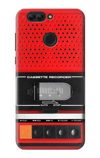 Printed Red Cassette Recorder Graphic Huawei nova 2 plus Case