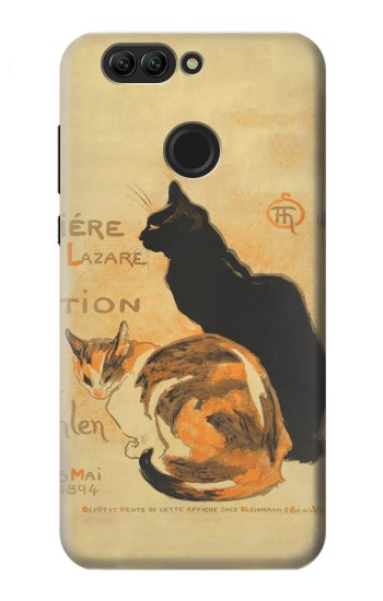 Printed Vintage Cat Poster Huawei nova 2 plus Case