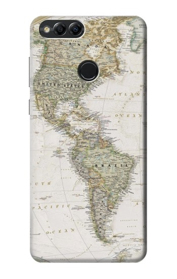 Printed World Map Huawei Honor 7X Case