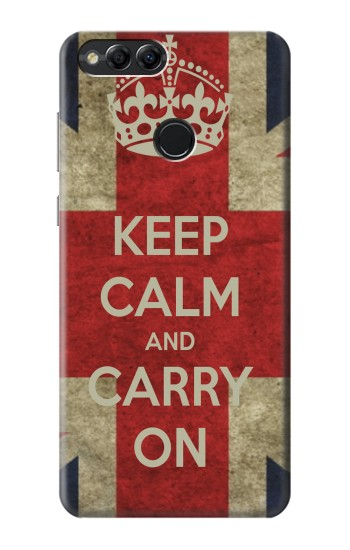 Printed Keep Calm and Carry On Huawei Honor 7X Case