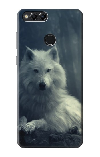 Printed White Wolf Huawei Honor 7X Case