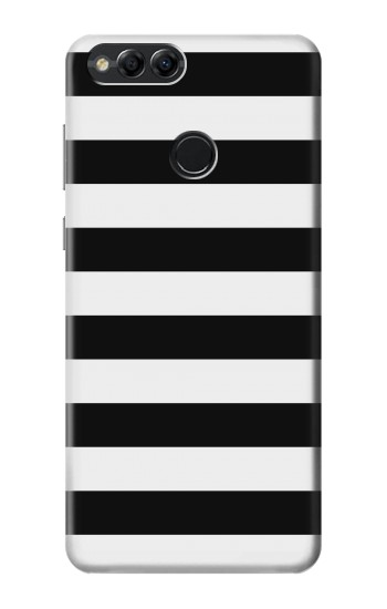 Printed Black and White Striped Huawei Honor 7X Case