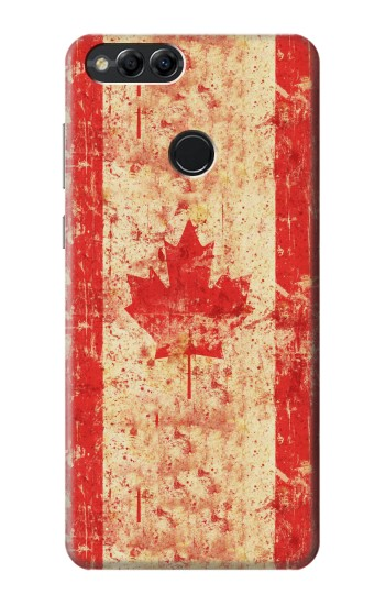 Printed Canada Flag Old Vintage Huawei Honor 7X Case