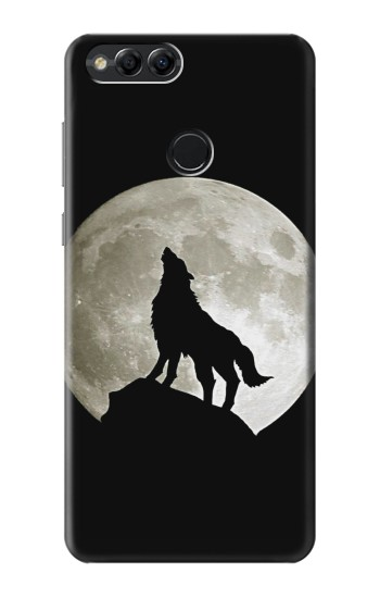 Printed Wolf Howling at The Moon Huawei Honor 7X Case