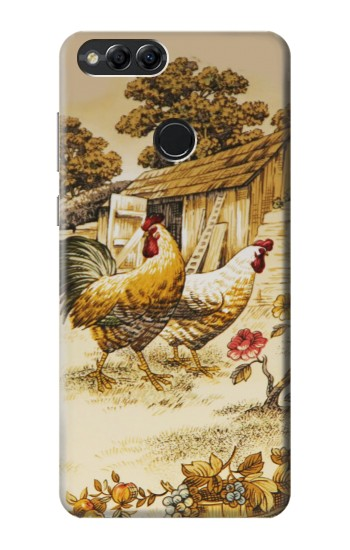 Printed French Country Chicken Huawei Honor 7X Case