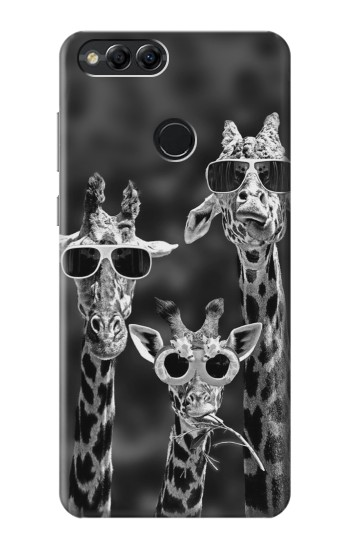 Printed Giraffes With Sunglasses Huawei Honor 7X Case