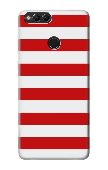 Printed Red and White Striped Huawei Honor 7X Case