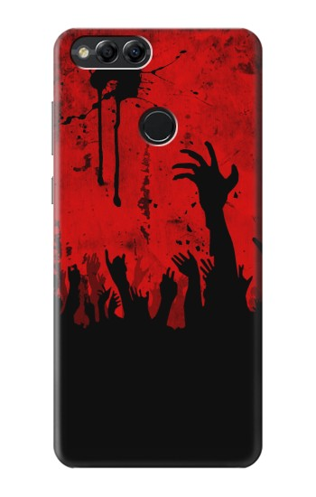 Printed Zombie Hands Huawei Honor 7X Case