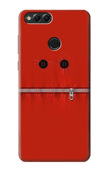 Printed Red Zipped Mount Funny Graphic Printed Huawei Honor 7X Case