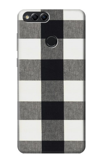 Printed Black and White Buffalo Check Pattern Huawei Honor 7X Case