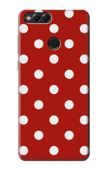 Printed Red Polka Dots Huawei Honor 7X Case