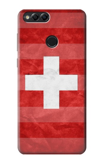 Printed Switzerland Football Flag Huawei Honor 7X Case