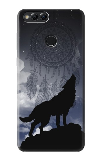Printed Dream Catcher Wolf Howling Huawei Honor 7X Case