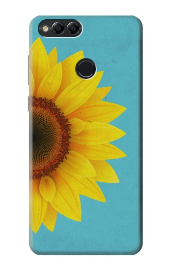 Printed Vintage Sunflower Blue Huawei Honor 7X Case