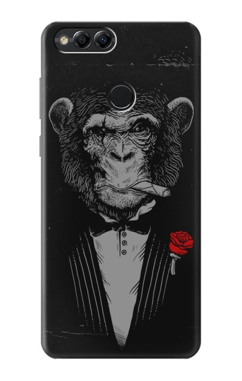 Printed Funny Monkey God Father Huawei Honor 7X Case