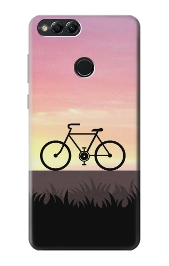 Printed Bicycle Sunset Huawei Honor 7X Case