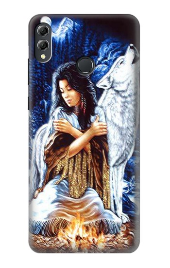 Printed Grim Wolf Indian Girl Huawei Honor 8X Max Case