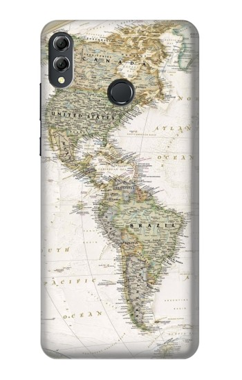 Printed World Map Huawei Honor 8X Max Case