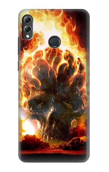 Printed Hell Fire Skull Huawei Honor 8X Max Case
