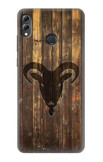 Printed Goat 2015 Year Wood Craving Graphic Printed Huawei Honor 8X Max Case